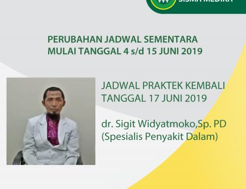 Perubahan Jadwal Praktek Dokter Sementara