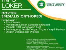 Lowongan Kerja Spesialis Orthopedi