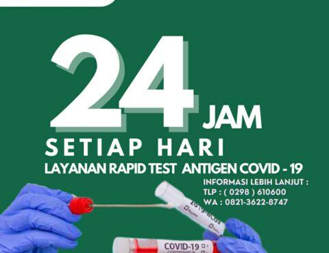 Layanan Rapid Test Antigen 24 Jam