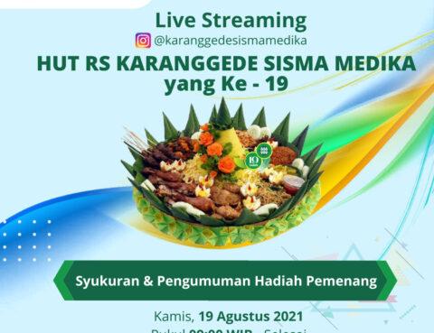 LIVE Streaming HUT RS ke-19